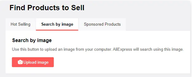 Aliexpress product search by image