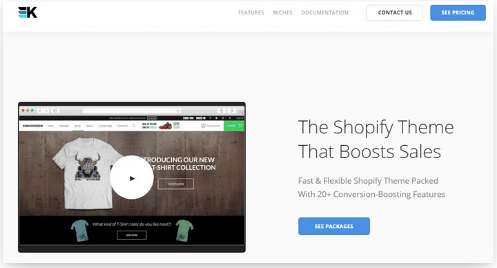 shopify theme that boost sales