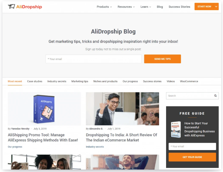 alidropship blogs